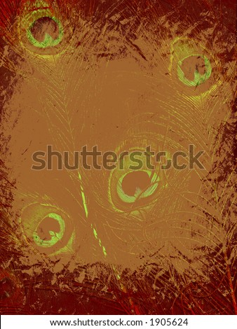 abstract creative design with peacock feather - stock photo