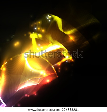Abstract  . Creative dynamic element, light lines Illustrations. - stock photo