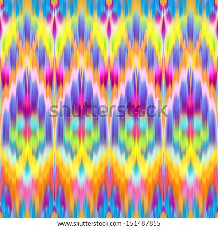 abstract creative geometrical background, ikat intricate textile pattern - stock photo