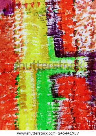 Abstract creative lines, Colorful background, Green and orange - stock photo
