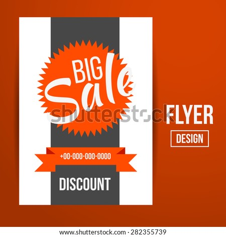 Abstract Creative Sale Flyers, can be used as poster or banner design. For shopping. - stock photo
