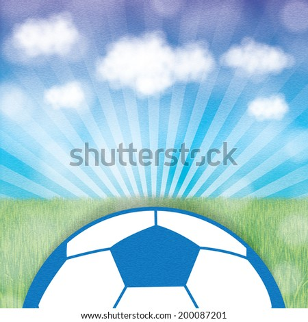 Abstract creative soccer background - stock photo