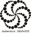 Abstract Crop Circle design 3 - stock vector