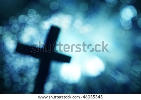 Abstract cross - stock photo