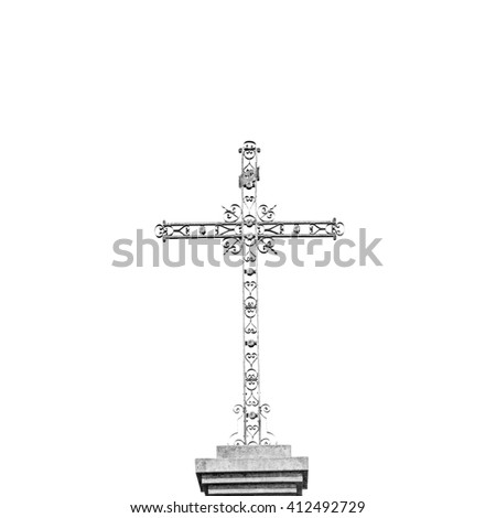 abstract     cross in     italy europe and the sky background