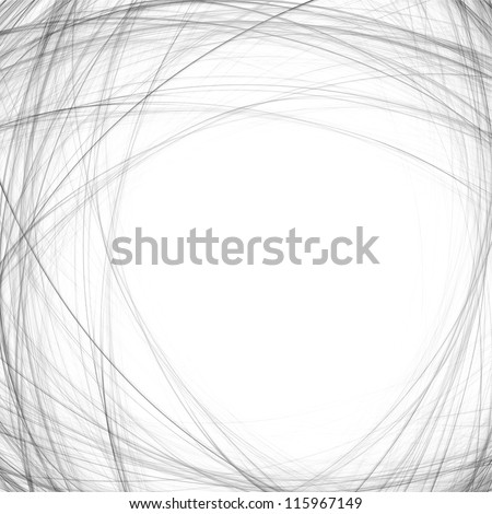 Abstract crossing wavy lines. - stock photo
