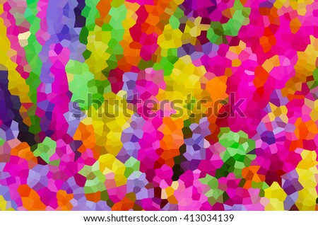 Abstract crystal background in colorful tone