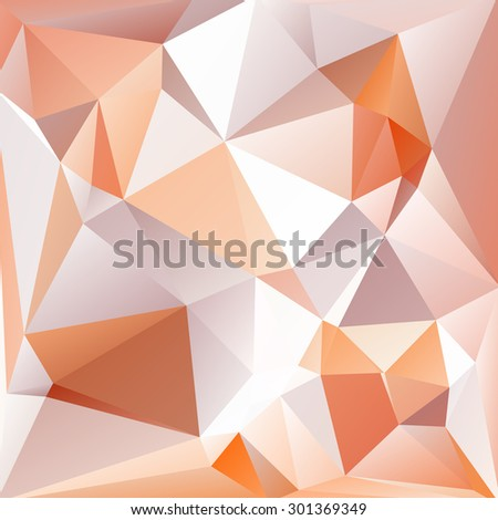 Abstract crystal background with light brown and gray triangles.