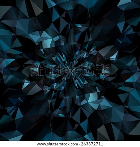 Abstract Crystal Triangular Background - stock photo
