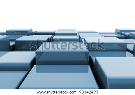 Abstract cube background - stock photo