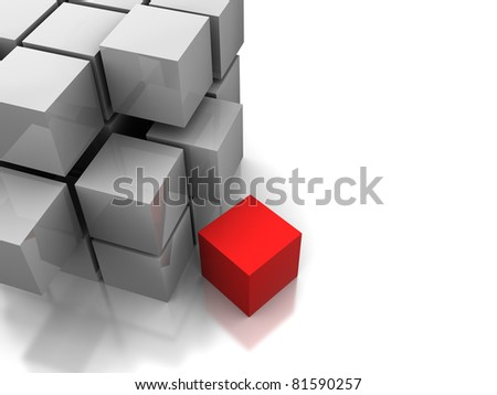 abstract cube structure - stock photo