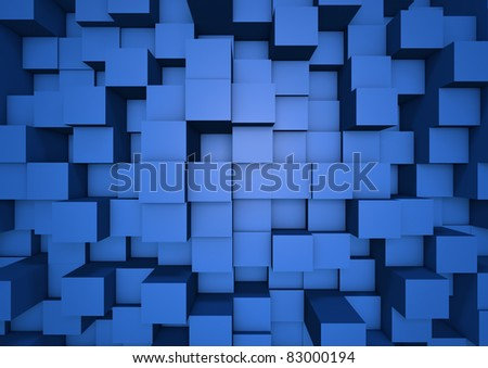 Abstract cube wall