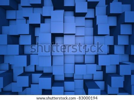 Abstract cube wall - stock photo