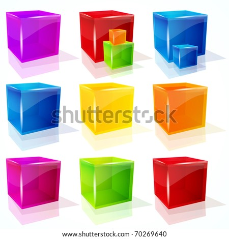 Abstract  cubes.