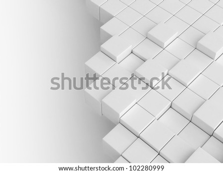 Abstract cubes building concept - stock photo