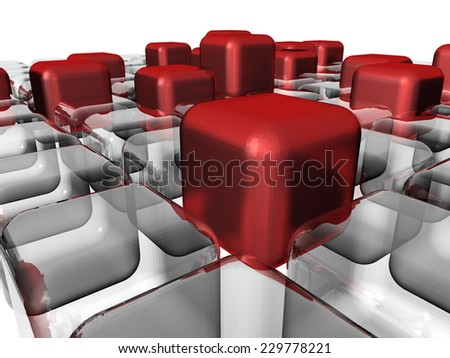 abstract cubes design - stock photo