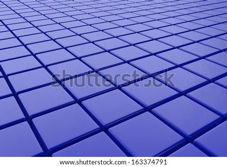 Abstract cubic blue background