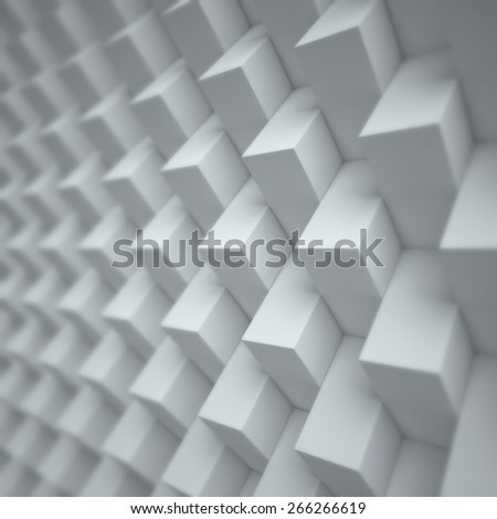 abstract cubical 3d background - stock photo