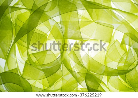 Abstract curly ribbon,ribbon background - stock photo