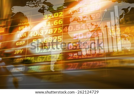 Abstract currency exchange - stock photo