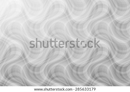 abstract curve black white pattern with smoke on grey background. raster illustration