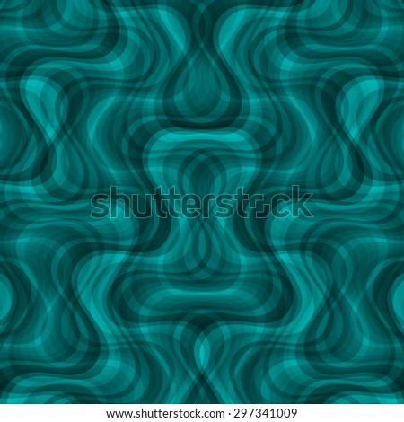 abstract curve dark cyan pattern with aqua texture with smoke with abstract turquoise line on slate background. raster illustration