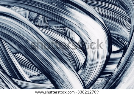 Abstract Curves grunge brush strokes hand painted background - stock photo