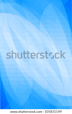 abstract curves of blue background. - stock photo