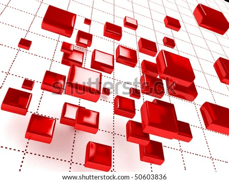 Abstract 3D background for company presentation