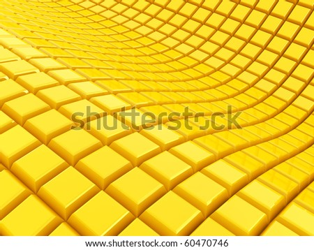 Abstract 3d background from cubes - stock photo