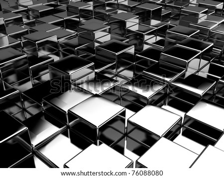 Abstract 3d background of the cubes - stock photo
