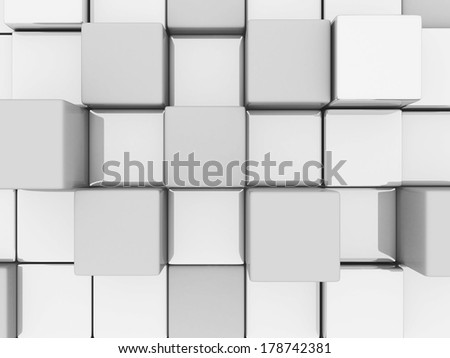Abstract 3d blocks background. 3d render - stock photo