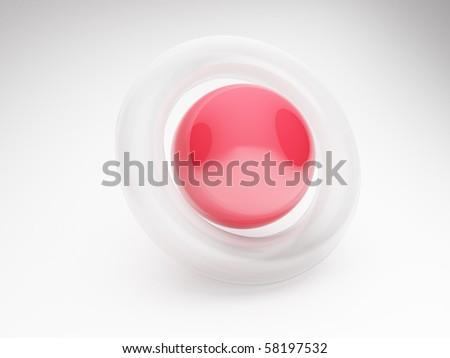 abstract 3d circle and torus - stock photo