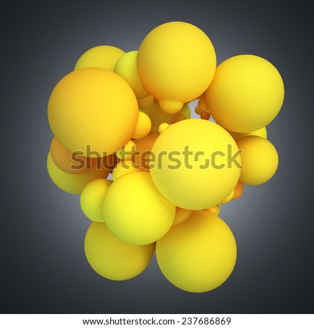 Abstract 3D concept illustration on gradient background. - stock photo