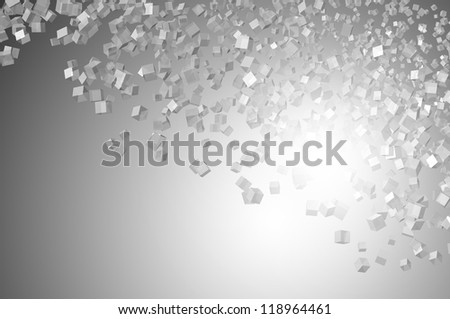 Abstract 3d cube background - stock photo