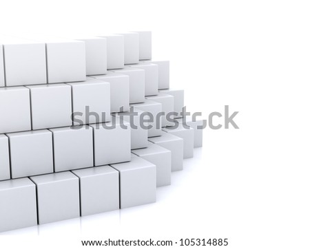 Abstract 3d cubes construction