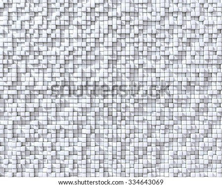 Abstract 3D cubes white wall background. - stock photo
