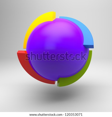 Abstract 3d figure - stock photo