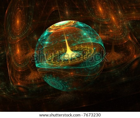 Abstract 3d fractal - stock photo