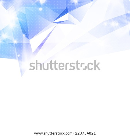 Abstract 3D geometric colorful background. - stock photo