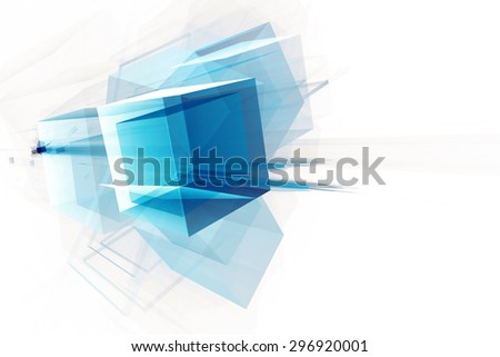 Abstract 3D hi tech background - stock photo