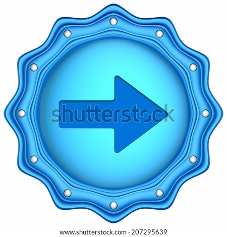 Abstract 3d icon isolated on white background.