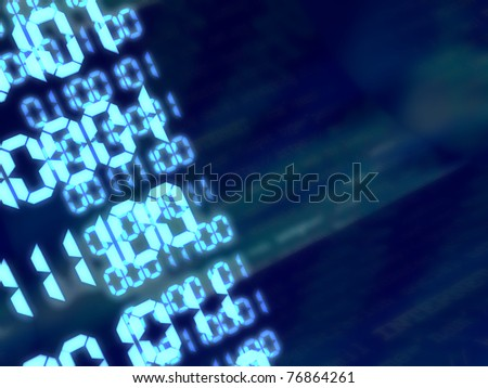abstract 3d illustration of binary code background - stock photo