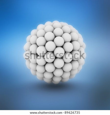 Abstract 3d Illustration of cell closeup - stock photo