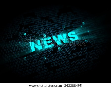 abstract 3d illustration of digital news sign - stock photo