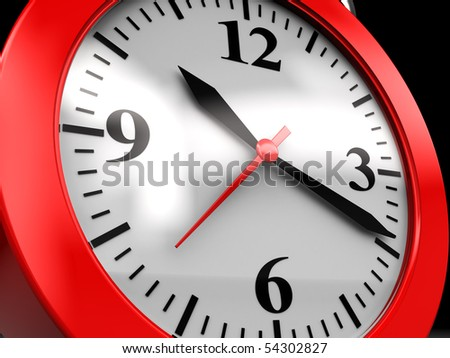 abstract 3d illustration of generic clock dial closeup