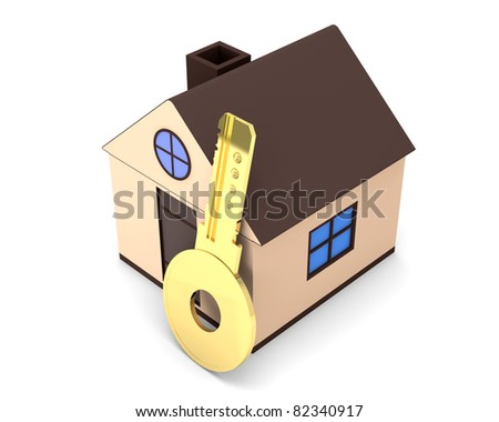 Abstract 3d Illustration of Mortgage Concept - stock photo