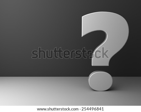 abstract 3d illustration of question background grayscale - stock photo