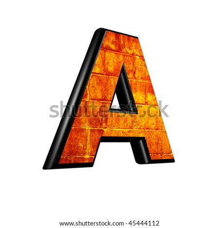 Abstract 3D Letter with old wall texture
