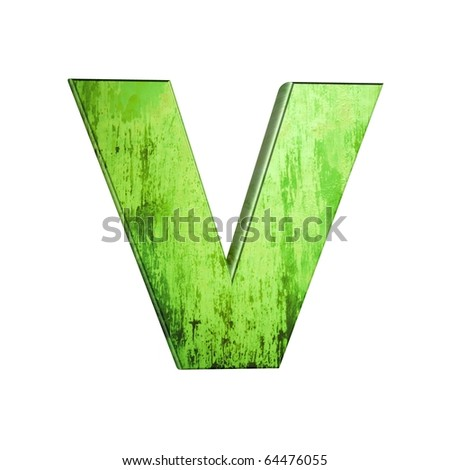 abstract 3d letters - stock photo